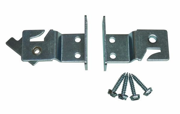 LOCKING Universal Mount BRACKETS for Roller Window Shades with a METAL ROLLER (1-Pair)