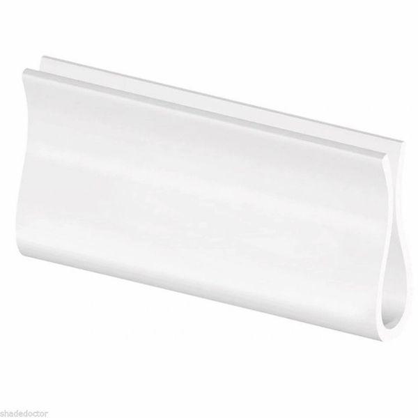 WHITE HAND GRIP for Roller Window Shades with a Wood or Plastic Hem Slat