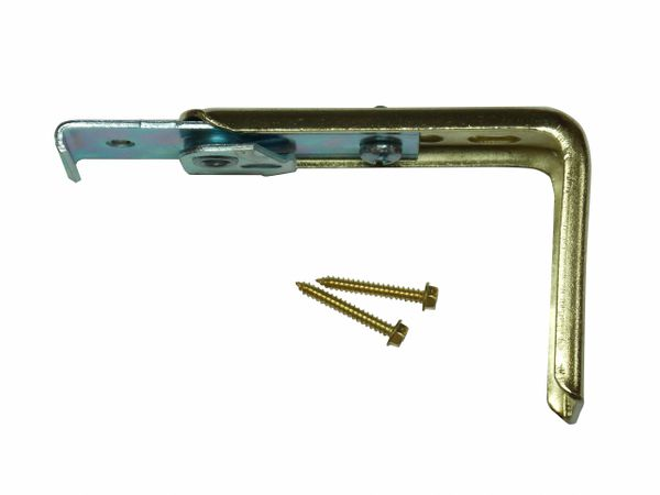 "KIRSCH 1 3/8"" DECORATIVE TRAVERSE ROD ~ CENTER SUPPORT BRACKET with Brass Screws"