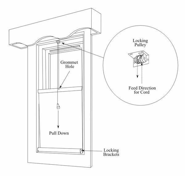 LOCKING PULLEY for Top-Down Roller Shades