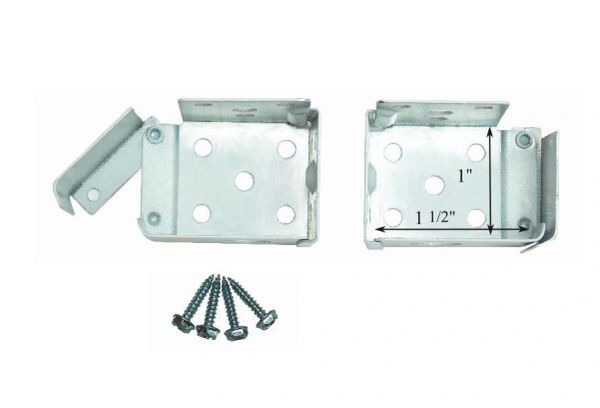 "ALL METAL Swing Gate MICRO or MINI BLIND End Brackets for 1 1/2"" X 1"" Headrails"