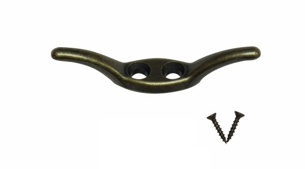 """2 1/2"""" Antique Brass CORD CLEAT for Pleated Shades, Cellular Shades & Horizontal Blinds"""