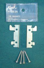 """1 Pair KIRSCH 2 1/2"""" Continental II Valance Rod FLUSH MOUNT BRACKETS 6711E-025"""