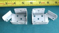 "1 PAIR Standard MINI BLIND Swing Gate END BRACKETS for 1 1/2"" X 1"" Headrails NEW"
