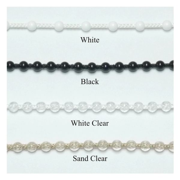 4.5mm #10 Plastic Bead Chain for Clutch Roller Shades (sold by the foot)