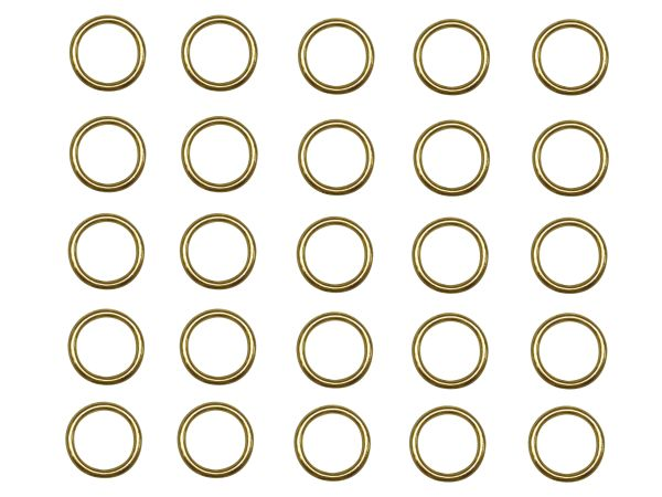 "3/8"" Sew-On BRASS Metal CORD GUIDE RINGS for Roman Shades - (25-Pack)"