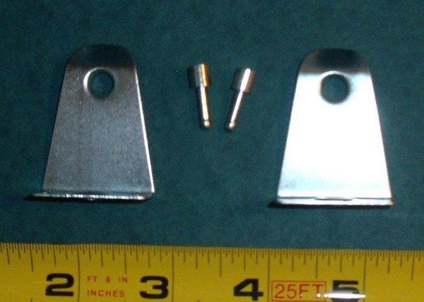 "1 pair 2"" WOOD BLIND Metal HOLD DOWN BRACKETS + Zinc BOTTOM PINS for Doors"