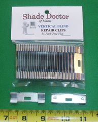 25 Pack Vertical Blind Vane Saver Repair Clips - Flat Style