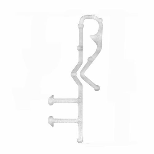 """2"""" Hidden Channel CLEAR VALANCE RETAINER CLIPS"""