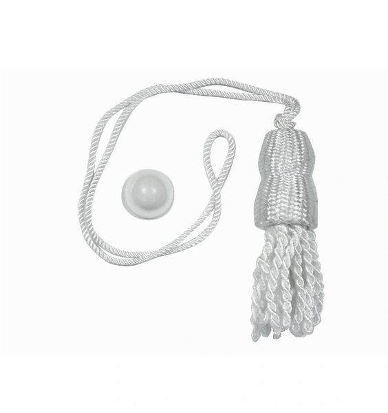 WHITE SHADE TASSELS & Higbee Screw Buttons for Roller Window Shades