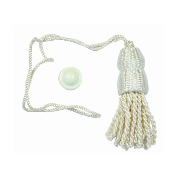 CREAM SHADE TASSELS & Higbee Screw Buttons for Roller Window Shades