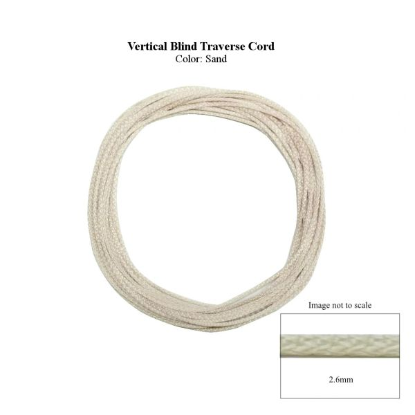 2.6mm VERTICAL BLIND TRAVERSE CORD (Sold by the Yard)