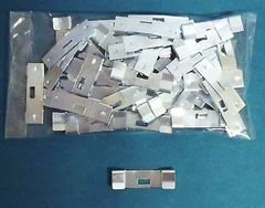 100 Pack VERTICAL BLIND Vane Saver ZINC CURVED REPAIR CLIPS ~ Fixes Broken Hole