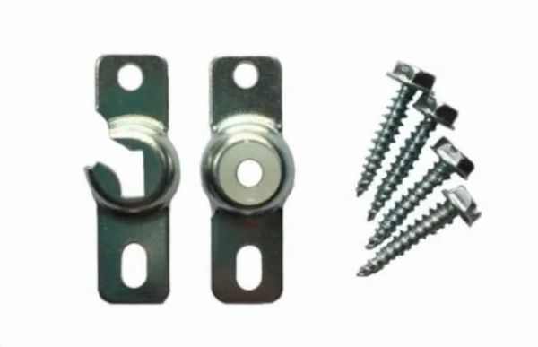 Standard INSIDE MOUNT Roller Window Shade Brackets with PROTECTIVE NYLON BUSHING (1-Pair)