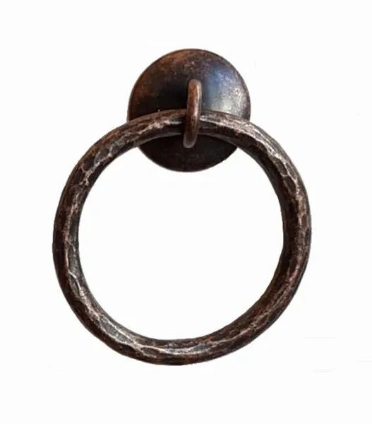 DESIGNER SERIES - Roller Window Shade RING PULL - Hammered BRONZE