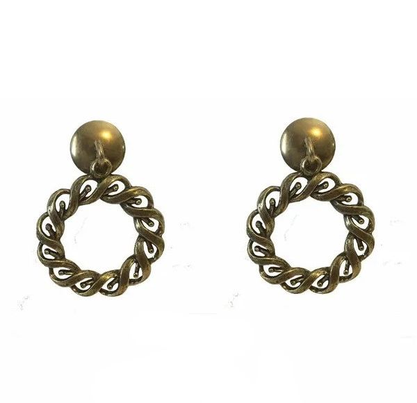 DESIGNER SERIES - Roller Window Shade RING PULLS - Antique Brass WOVEN ROPE (2-Pack)