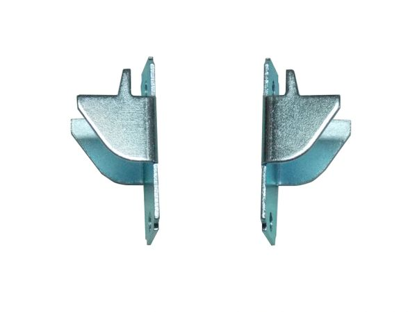 KIRSCH Lockseam DOUBLE CURTAIN ROD BRACKETS with Screws (1-Pair)