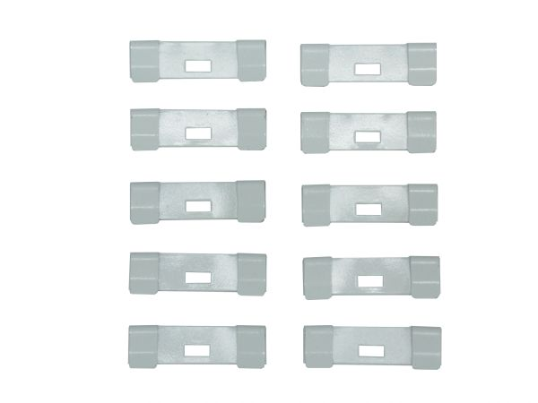 10 Pack VERTICAL BLIND Vane Saver White CURVED REPAIR CLIPS ~ Fixes Broken Holes