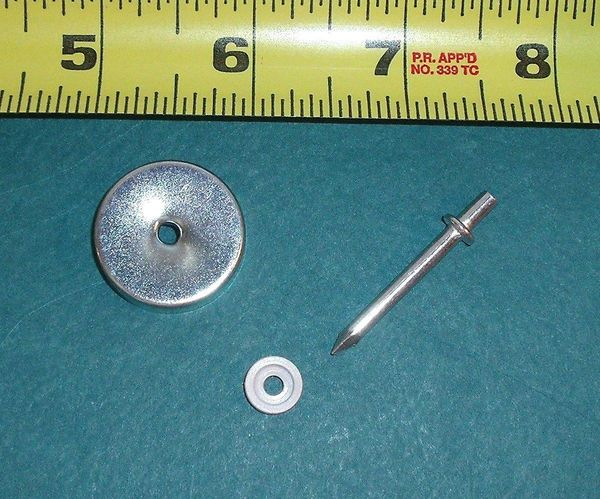 "NEW Replacement END CAP & PIN for 15/16"" WOOD ROLLERS includes PROTECTIVE WASHER"