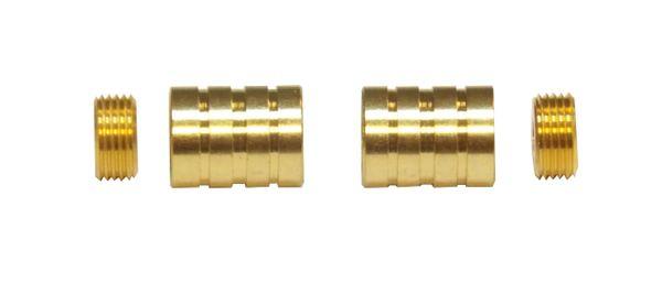 "HIDDEN SOCKET Brass Plated BRACKETS for 3/8"" Rodding Doors & Sidelights (1-Pair)"