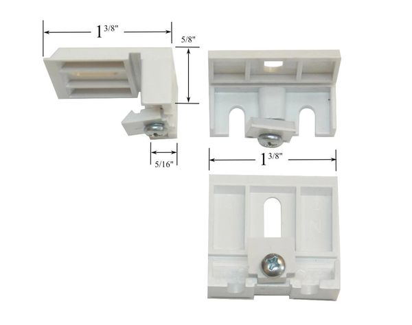 "Hunter Douglas Mounting Bracket for Duette Honeycomb Shades with 1 1/8"" Wide Headrails (sold individually)"
