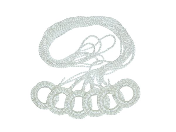 6-Pack Double CROCHET RING PULLS for Roller Window Shades - WHITE or CREAM