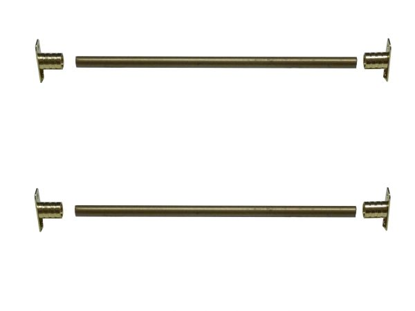 "3/8"" Steel Rodding SIDELIGHT ROD SET - Two 12"" Rods with 2 pair Inside Side Mount Brackets & Screws"