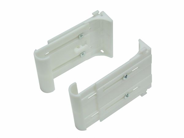 Concealed Tie Back Holders for Drapery Tie-Backs (one pair) with Instructions