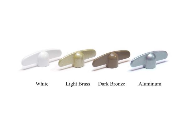 "3/8"" ANDERSEN Casement WINDOW CRANK ~ Butterfly HANDLE Wing Nut T-HANDLE - Choose from 4 Colors!"
