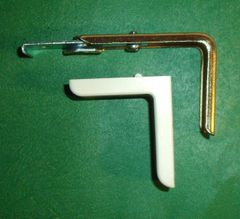 """Kirsch 1 3/8"""" DECORATIVE TRAVERSE ROD - CENTER SUPPORT BRACKET with Cover Plate"""