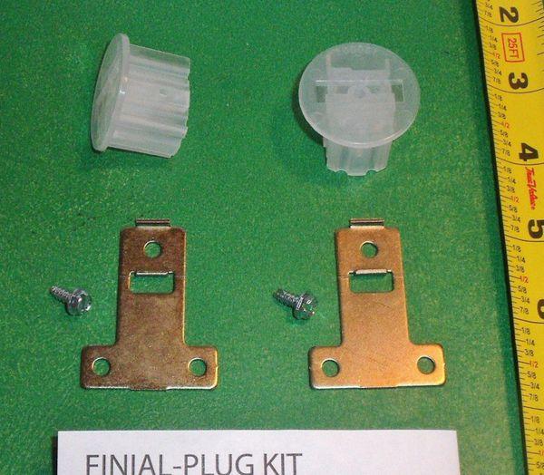"KIRSCH 1 3/8"" Decorative Traverse Rod PLUG KIT for Screw-in MIX & MATCH FINIALS"
