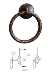 Designer Series Roller Shade Ring PULL - Hammered Bronze