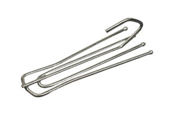 10 Pack Slip-in Drapery Pins for Pinch Pleat Draperies on Decorative Traverse Rods or Poles with Rings - 4 Prong Long Neck