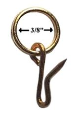"""Shade Doctor of Maine 3/8"""" Brass Pin-On Rings - 10 Pack"""