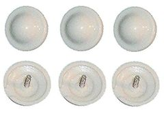 6 pack OFF-WHITE CREAM Roller Shade ~ Tassel RING PULL Higbee SCREW BUTTONS New!