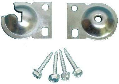 ONE PAIR Roller Shade FOOTLESS BRACKETS for Inside Mounts on Shallow Windows #S25