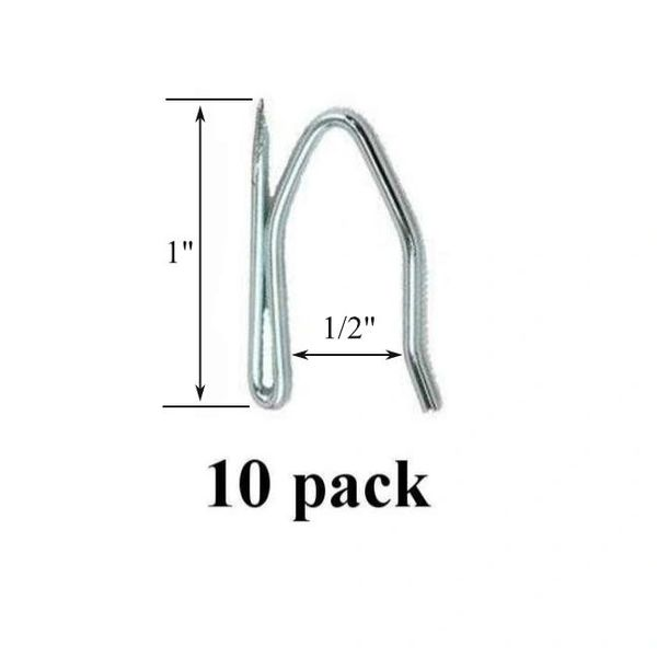 10 Pack LIGHT DUTY POINTED Drapery Hook Pins for Lightweight Drapery Applications