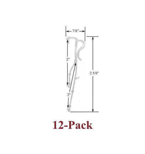 "2"" Double Slat VALANCE CLIPS for Horizontal WOOD or ALUMINUM Venetian BLINDS (12-Pack)"
