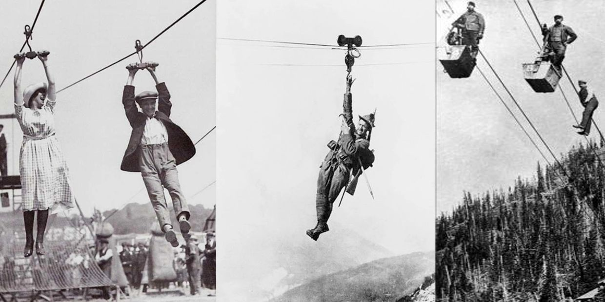 Zip Lines have been a practical way to travel. Zip Lines have been used in the most cultures.