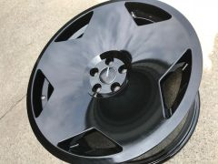 "Four 18"" MonoBlock Style Wheel Gloss Black or Matt Black- 5x100"