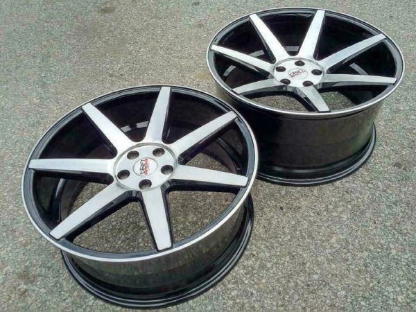 Four Brand NEW 20 inch Drift Racing 7 spoke CONCAVE - 5x112