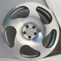 "Set of Four 18"" CC10 Style - 5x112 - Staggared- Silver / Machined"