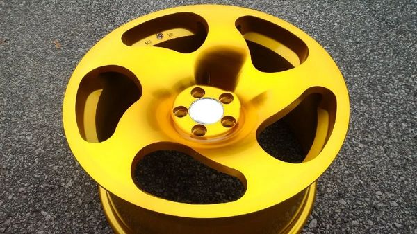 """Set of Four 18"""" CC10 Style - 5x100- Staggared- Machined Gold"""