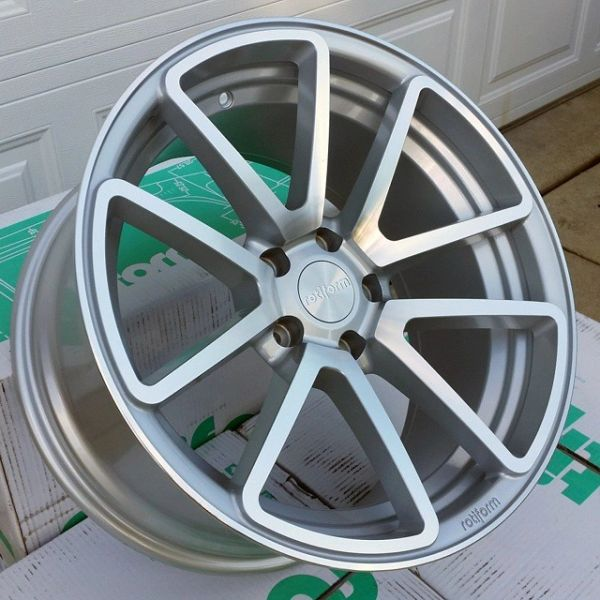 Set of Four 18x9.5 Rotiform SPF - Silver/Machined or Black/DDT - 5x100