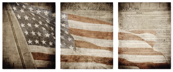 Foundations of a Nation Triptych (24x60 Canvas Wrap)
