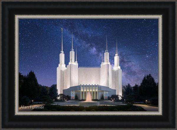 Celestial Temple Series: Washington, D.C. Temple (25x34 Framed Art)
