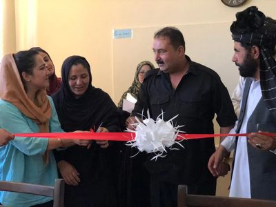 Frozan (left) at ribbon cutting ceremony