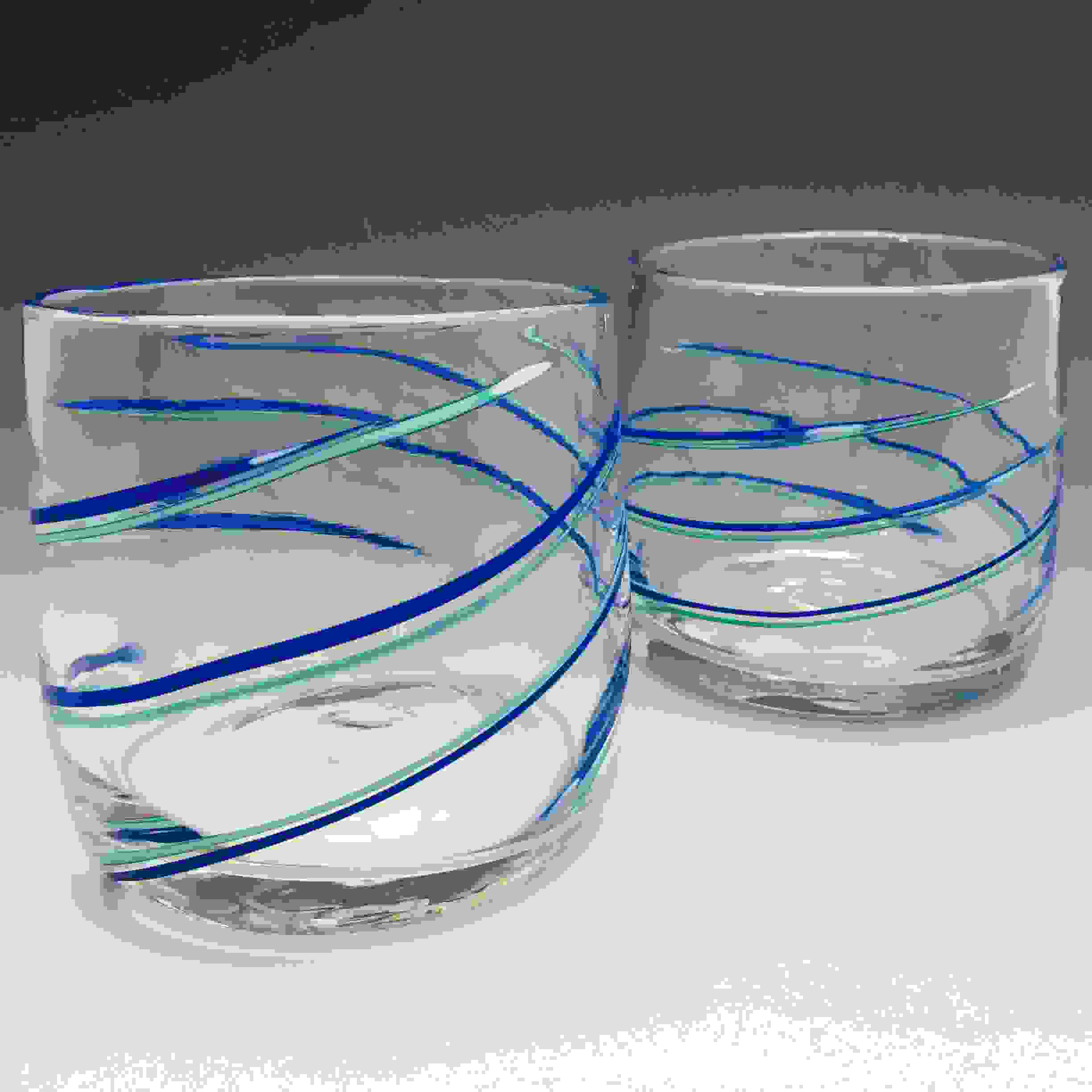 BLUE LATTICINO ROCKS GLASSES