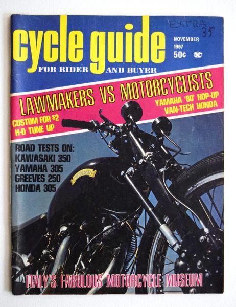 """VanTech Honda - Conclusion"" By Bob Braverman - Cycle Guide (November 1967)"