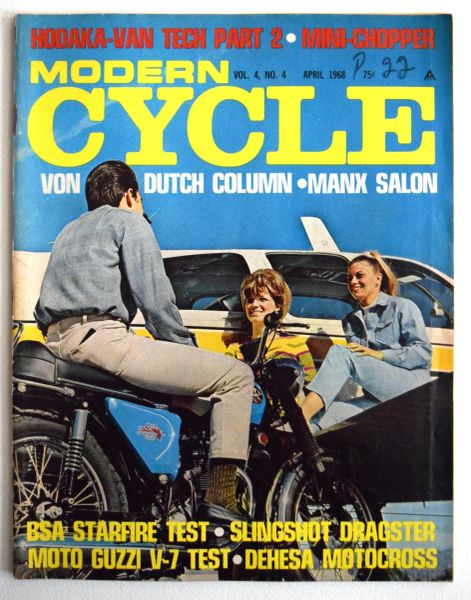 """Hodaka-VanTech Part 2"" Modern Cycle (April 1968)"